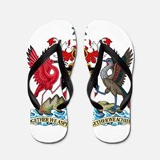 Trinidad and Tobago Coat Of Arms Flip Flops