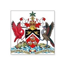Trinidad and Tobago Coat Of Arms Square Sticker 3""