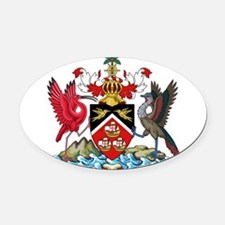 Trinidad and Tobago Coat Of Arms Oval Car Magnet