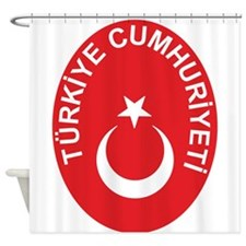 Turkey Coat Of Arms Shower Curtain