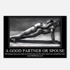 A good partner or spouse Postcards (Package of 8)