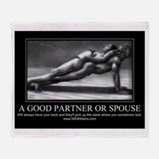 A good partner or spouse Throw Blanket