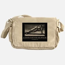 A good partner or spouse Messenger Bag