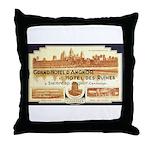 Cambodia Grand Hotel Throw Pillow