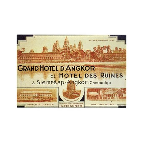Cambodia Grand Hotel Rectangle Magnet (10 pack)