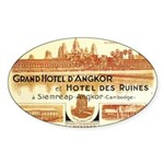 Cambodia Grand Hotel Oval Sticker
