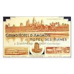 Cambodia Grand Hotel Rectangle Sticker