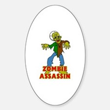 ZOMBIE ASSASSIN Sticker (Oval)