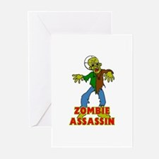 ZOMBIE ASSASSIN Greeting Cards (Pk of 10)