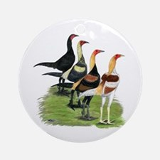 Modern Game Roosters Ornament (Round)