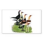 Modern Game Roosters Sticker (Rectangle 10 pk)