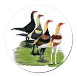 Modern Game Roosters Round Car Magnet