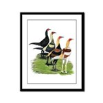 Modern Game Roosters Framed Panel Print