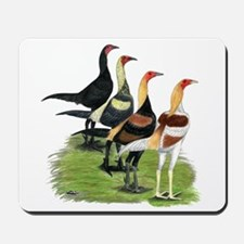 Modern Game Roosters Mousepad