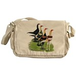 Modern Game Roosters Messenger Bag