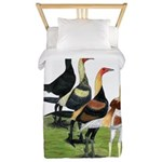 Modern Game Roosters Twin Duvet