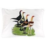 Modern Game Roosters Pillow Case
