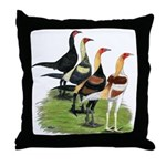 Modern Game Roosters Throw Pillow