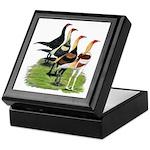 Modern Game Roosters Keepsake Box