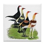 Modern Game Roosters Tile Coaster