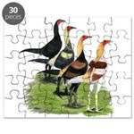 Modern Game Roosters Puzzle