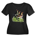 Modern Game Roosters Women's Plus Size Scoop Neck