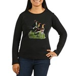 Modern Game Roosters Women's Long Sleeve Dark T-Sh