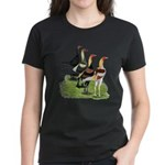 Modern Game Roosters Women's Dark T-Shirt