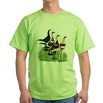 Modern Game Roosters Green T-Shirt
