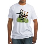 Modern Game Roosters Fitted T-Shirt