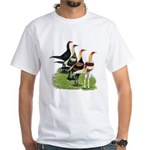 Modern Game Roosters White T-Shirt
