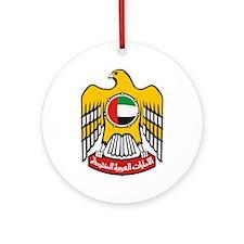 United Arab Emirates Coat Of Arms Ornament (Round)