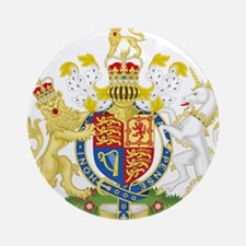 United Kingdom Coat Of Arms Ornament (Round)