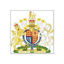 "United Kingdom Coat Of Arms Square Sticker 3"" x 3"""