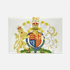 United Kingdom Coat Of Arms Rectangle Magnet (10 p