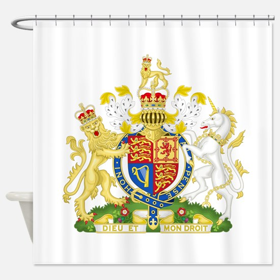 United Kingdom Coat Of Arms Shower Curtain