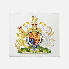 United Kingdom Coat Of Arms Throw Blanket