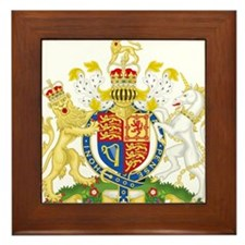 United Kingdom Coat Of Arms Framed Tile