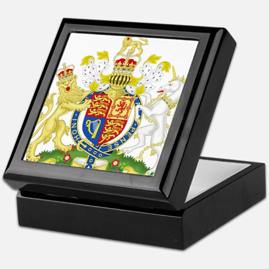 United Kingdom Coat Of Arms Keepsake Box