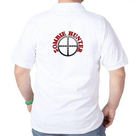 Zombie Hunter with Crosshairs Golf Shirt