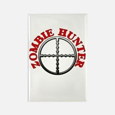 Zombie Hunter with Crosshairs Rectangle Magnet (10