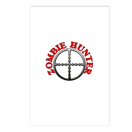 Zombie Hunter with Crosshairs Postcards (Package o