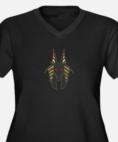 Anubis Women's Plus Size V-Neck Dark T-Shirt