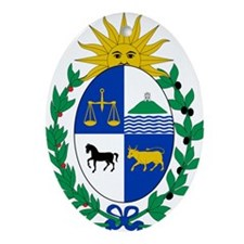Uruguay Coat Of Arms Ornament (Oval)