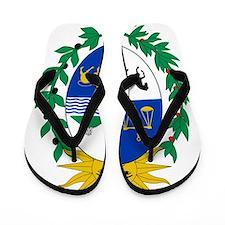 Uruguay Coat Of Arms Flip Flops