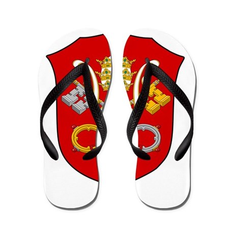 Vatican City Coat Of Arms Flip Flops