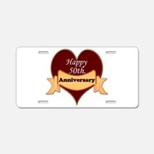 Cool 50th wedding anniversary Aluminum License Plate