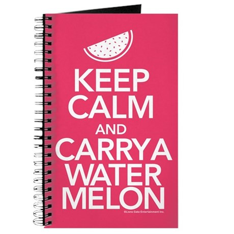 Keep Calm Carry a Watermelon Journal