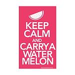 Keep Calm Carry a Watermelon Sticker