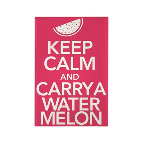 Keep Calm Carry a Watermelon Magnet